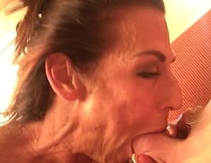 Female bodybuilder Briana Beau sure loves to suck cock, and she sure loves to film it on her iPhone! When we first saw this video we planned on keeping it for ourselves. After all it's pretty personal and all - but then we figured we couldn't keep it from you! You guys love Briana - so here she is in all of her female muscle blowjob glory!
