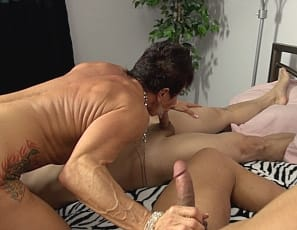 Something is. mature muscle woman blowjob