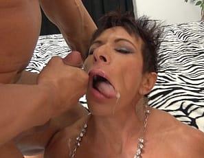 Female muscle blowjob